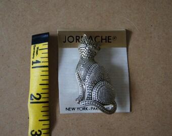 Vintage 1980's -Jordache cat pin