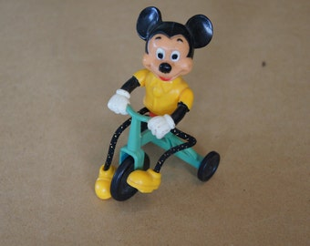 Vintage 1977 - Disney Mickey Mouse on Tricycle Push Toy by Gabriel Industries -