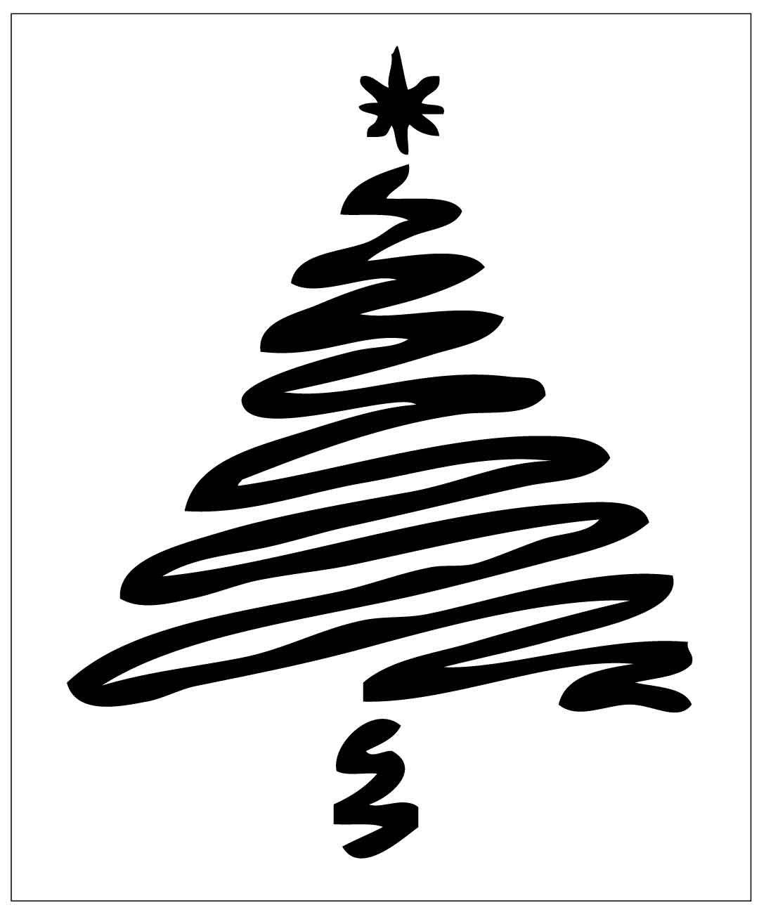 Christmas Tree Stencils: MC24 Reusable Laser-Cut Stencil Christmas Tree