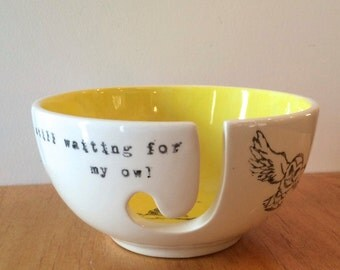 Harry Potter- waiting for my owl- yarn bowl