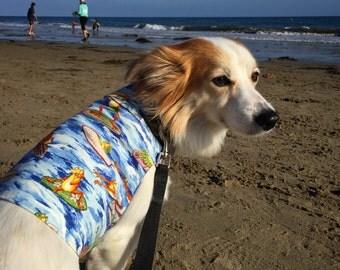 Hawaiian Dog Shirt - Surf and Sand Reversible