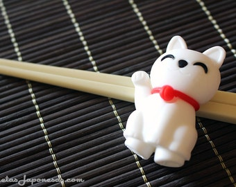 Maneki neko chopsticks for kids