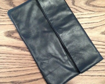 Classic Foldover/envelope designed  Leather Clutch