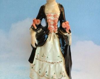 Antique Victorian Porcelain Woman Figure Figurine Made In England British Vintage