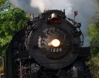 Steam Engine going through Rosebush Michigan