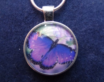 SALE Butterfly Pendant 2.5 cm with 16 inch solid silver chain