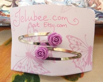 Rose Hair Clip Lilac