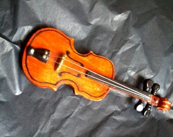 Miniature Wooden Viola Model Instrument 12,5 cm