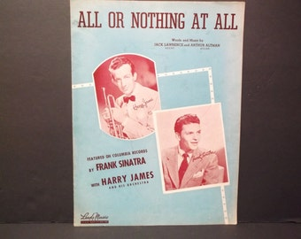 FRANK SINATRA VINTAGE Sheet Music - All Or Nothing At All