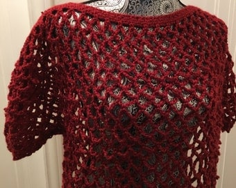 Rouge Red Lace Blouse