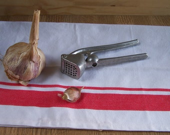 Vintage aluminium garlic press