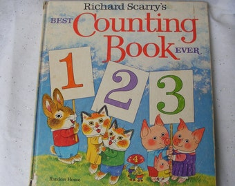 1975 Vintage Richard Scarry's Best Counting Book Ever Random House Made in USA Book Club Edition 4836 Count All the Way to 100 ~ 6521