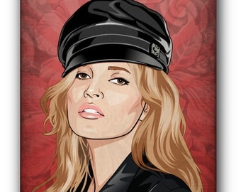 Kate Moss Canvas Art Print A1 A2 A3 A4