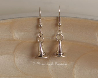 Witch Earrings, Halloween Earrings, Hallowen Jewelry, Witch Hat, Witch Jewelry