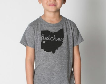Custom TODDLER Hometown American Apparel Tri blend Tshirt