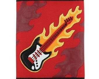 Boy's Guitar Wallet with Velcro Closure