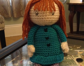Inspired by Peg plus cat tv show, crocheted doll Peg + cat  about 14 inches  tall, handmade amigurumi, stuffed animals, peg plus cat plushes