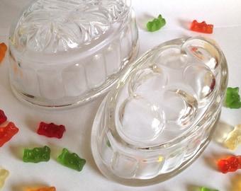 Vintage jelly moulds, 1950's retro jelly mould, pressed glass English jelly mould, retro kitchen, vintage kitchen, kitsch gift