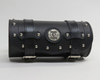 Tool Bag Motorcycle, Leather Motorcycle Tool Roll, Bicycle bag, Genuine Leather, PU Leather, Fork Bag Laggage, Tool Roll, for bikers, bike