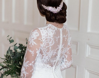 Bridal headpiece, rhinestone headpiece, wedding, silver headpiece, rhinestones