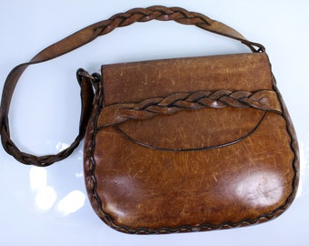 1960's Hippie Leather Tool Bag