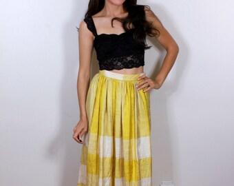 Yellow Sunshine 1960s Gene Burton Skirt