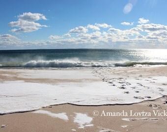 Snowy beach, Rhode Island, Travel photography