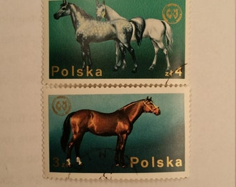 Set of 2 Polska Horse Stamps