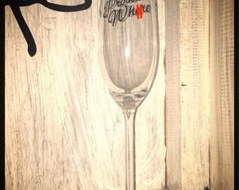 Hand Decorated 'Prosecco Wh*re' Prosecco / Champagne Glass