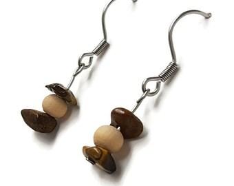 Gift idea for her, silver earrings, tiger eye earrings, handmade jewelry, tiger eye jewelry, handmade earring boho bohemian earring zen awin