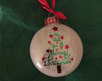 We wish you a Merry Christmas Tree Holiday Ornament