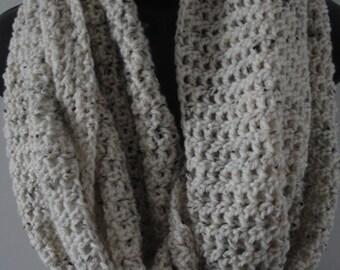 TWEED ARAN INFINITY scarf