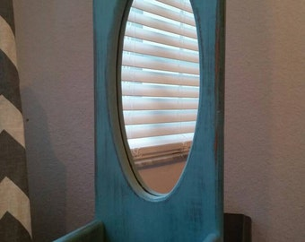 Antique blue mirror