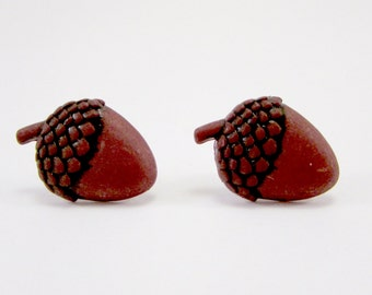 Acorn Earrings, Fall Earrings, Autumn Earrings, Thanksgiving Earrings, Nut Items, Acorn Items, Squirrel Items, Brown Earrings