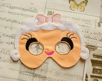 Doc Mcstuffins Lambie inspired mask ITH Project In the Hoop Embroidery Design Costume, Cosplay, Fancy dress, Masquerade, Photo booth, Prop