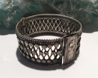 Antique Breacelet-antique Cuff-Kochi  Jewellery-Statement cuff-Antique Ethnic Middle Eastern-Blue cuff Breacelet