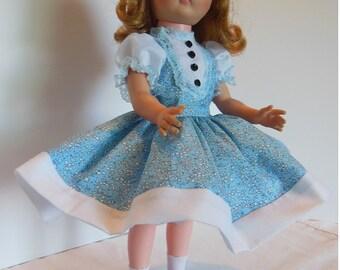 """Blue Floral Dress Set for 14"""" Vogue Miss Ginny Dolls"""