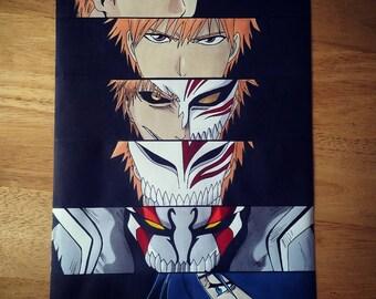 """Anime Eyes: Ichigo - Bleach 8x12"""" Print"""