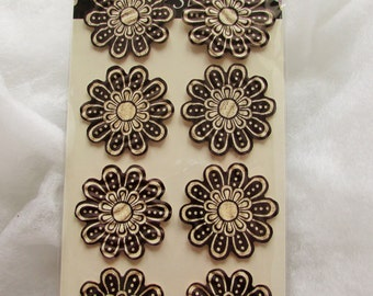 3D Vintage Style Flower Stickers