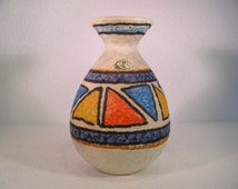Ubelacker Fat Lava vase with multicolored decor