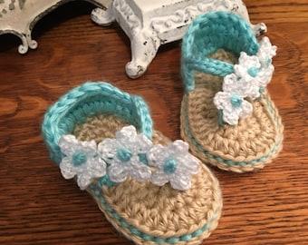 Triple Flower Sandals