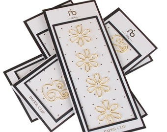 Flower paper clips gold
