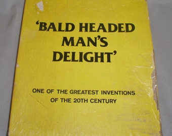 Bald Headed Man's Delight - Adult Gag Gift in Box - 1977
