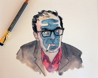 6. Jean-Luc Godard - Director Portrait Series  - PRINT 8x10 - A Great Present for the Film Geek and/or Movie Maven in Your Life