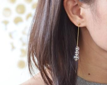 PUNTI - Tiny Glass Bubbles Long Earrings