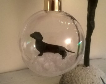 Dachshund in the Snow Pet Bauble