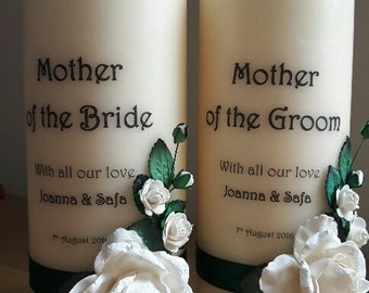 Candle for mother of bride