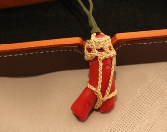Red Y Crochet Good Luck Charm