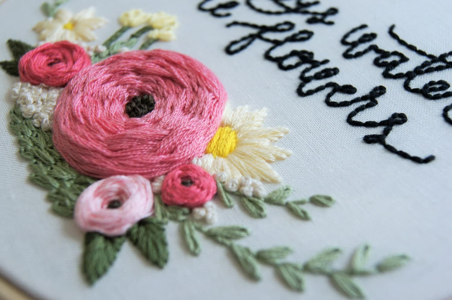 Hand Embroidery Pattern, Floral Wreath Pattern, Embroidery Supplies, Hand  Embroidery, Embroidery Hoop