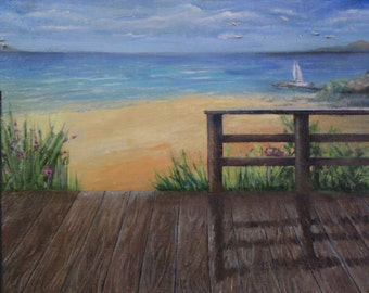 On the #seaside #oil painting #landscape #пейзаж #картина маслом